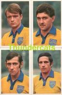 LOT   4 X  UNION ST GILLEOISE  ** 1960'S IMAGE CHROMO FOOTBALL ** 60'S TRADING CARD FOOTBALL ** VOETBAL KAARTJE - Trading Cards