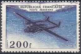 FRANCE -  200 F. Noratlas Oblitéré Avec Le Brun-noir Violacé Surabondant Et Avec Une Ligne Supplémentaire En Haut - Errors & Oddities