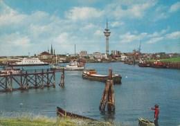 B75675 Bremerhaven Geestemindung Und Radarturm  Ship Bateaux   2 Scans - Bremerhaven