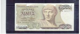 GRIECHENLAND  ,  GREECE  ,   1000 Drachmai  ,  1.7.1987  ,  Pick#202     ,    VF - Griechenland