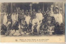 Pk282: Nels Missiën Der Paters Oblaten Op Het Eiland Ceylon  Inlandse Pater Heeft Op Een Dag 70 Inboorlingen Gedoopt - Sri Lanka (Ceylon)
