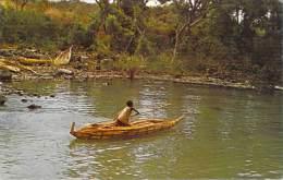 "Afrique-ETHIOPIE Ethiopia Fisherman And His ""Tanqua"", A Reed Canoe At Lake Tana Source Of The Nile - Ethiopie"