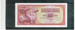 JUGOSLAWIEN , YUGOSLAVIA ,     100 Dinara    , 4.11.1981    ,   Pick #90      , - Yugoslavia