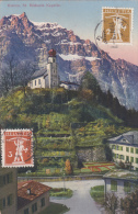 Nos 137 & 169 Sur Carte Postale Avec Affranchissement Au Verso - Fils De Tell - SBK  11.50 - Lettres & Documents