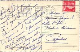 ALGERIE - ORAN RP - OBLITERATION MECANIQUE - CARTE POSTALE POUR LA FRANCE. - Algeria (1924-1962)