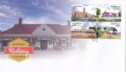 Australia 2013 Historic Railway Stations FDC - Ersttagsbelege (FDC)