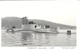 GYMNOTE   Sous-marin Photo Marius Bar 4-1977 - Submarinos