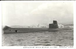ESPADON Sous-marin Photo Marius Bar 2-5-1960 - Submarinos