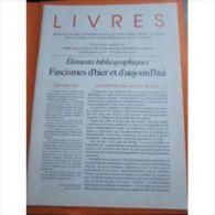 Livres N° H S, Juillet 1997 : Éléments Bilbiographiques, Fascismes D'hier & D'aujourd'hui - Livres, BD, Revues
