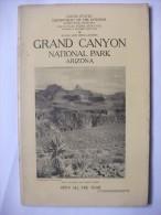 Grand Canyon Arizona 1927 National Park Guide Photos Carte Montagne Usa - Amérique Du Nord