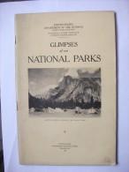 Glimpses 1927  National Park Guide Photos Carte Montagne Usa - Amérique Du Nord