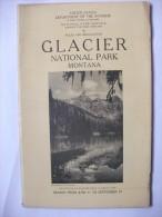 Glacier Montana 1927  National Park Guide Photos Carte Montagne Usa - Amérique Du Nord
