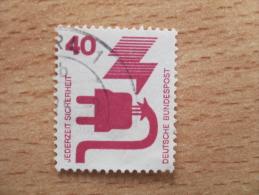 "BRD 1971  Mi. Nr. 699  O /  Gestempelt  A Rb  Wert Mit Rückseitiger Nummer ( Rot )   "" Unfallverhütung ( I ) "" - Oblitérés"