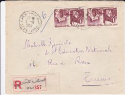 TUNISIE - 1959 - ENVELOPPE RECOMMANDEE De SFAX Pour TUNIS - Tunisia (1956-...)