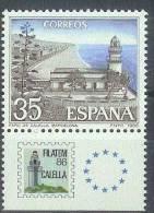 ESPAÑA 1986 -  Edifil #2838 Con Bandeleta - MNH ** - 1931-Hoy: 2ª República - ... Juan Carlos I