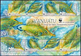 VANUATU - 2013 - Faune Marine, Poissons, WWF- Feuillet Neufs // Mnh - Vanuatu (1980-...)