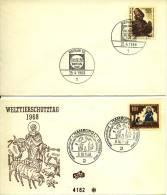 2 Enveloppen / Kuverts Deutsche Bundespost Berlin - 1968 - [5] Berlijn