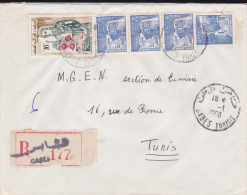 TUNISIE - 1960 - ENVELOPPE RECOMMANDEE De GABES Pour TUNIS - Tunisia (1956-...)