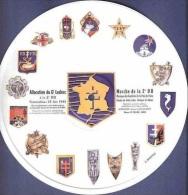 MILITARIA* DOCUMENT SONORE* ALLOCUTION DU GENERAL LECLERC ET MARCHE DE LA 2ème DB* PICTURE DISQUE FLEXI - Documents