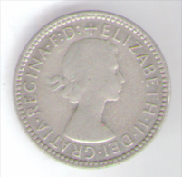 GRAN BRETAGNA SIX PENCE 1955 AG - Moneta Pre-decimale (1910-1965)