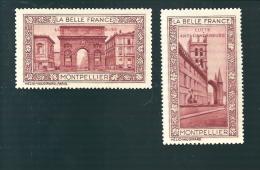 R647 - VIGNETTE BELLE FRANCE - MONTPELLIER - SURCHARGE LUTTE ANTI CANCEREUSE - Tourism (Labels)