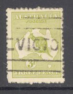 AUSTRALIA, 1915-28 3d Olive (3rd Wmk) Used, Cat  £9 - Used Stamps