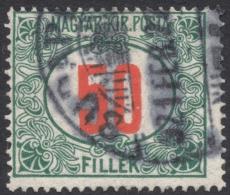 Hungary,  50 F. 1920, Sc # J38, Mi # 65, Used - Postage Due