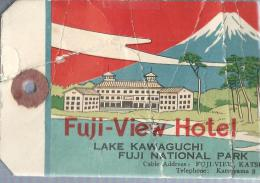 Japon/ Fuji-View Hotel/Lake Kawaguchi/Fuji National Park/ Années 1960-1970       JAP1 - Hotel Labels
