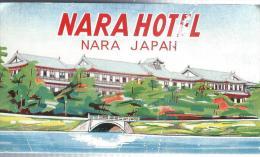 Japon/NARA Hotel/ Années 1960-1970       JAP2 - Hotel Labels