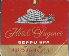 Japon/Hotel Suginoi/Beppu SPA/l/ Années 1960-1970       JAP3 - Hotel Labels