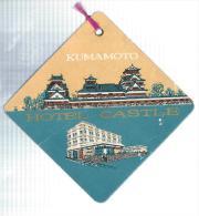 Japon/Hotel Castle/ Kumamoto/ Années 1960-1970       JAP4 - Hotel Labels