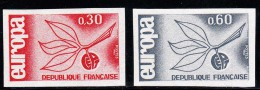 TIMBRE FRANCE NON DENTELES LA PAIRE N°1455/56 EUROPA 1965 - NEUF SANS CHARNIERES - Imperforates