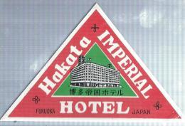 Japon/Hakata Imperial Hotel /FUKUOKA/ Années 1960-1970       JAP5 - Hotel Labels