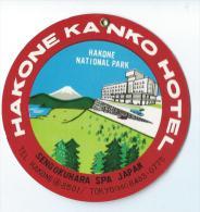 Japon/ Hakone Kanko Hotel/ Sengokuhara SPA Japan/ Années 1960-1970       JAP7 - Hotel Labels