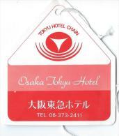 Japon/ Etiquette De Valise/ Osaka Tokyu Hotel /Tokyu Hotel Chain/Japan / Années 1970-80      JAP13 - Hotel Labels