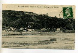 50 ST SAINT  JEAN LE THOMAS Villas Et Cabines PLage Bord De Mer 1920 Timb      /D16-2013 - France