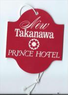 Japon/ Etiquette De Valise/ New Takanawa / Prince Hotel /Tokyo/Japan / Années 1970-80      JAP14 - Hotel Labels