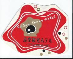 Japon/ Etiquette De Valise/ Shima Kanko Hotell /Japan / Années 1960-1970      JAP15 - Hotel Labels