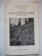 Flora Of Mount Rainier 1922  National Park Guide Photos  Montagne Usa Nature Fleur - Amérique Du Nord