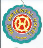 Japon/ Etiquette De Valise/ The Oriental Hotel / Kobe /Japan / Années 1960-1970      JAP16 - Hotel Labels