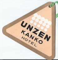 Japon/ Etiquette De Valise/ Unzen Kanko  Hotel / Japan / Années 1960-1970      JAP17 - Hotel Labels