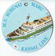 Japon/ Etiquette De Valise/ Croisiiére/Kansai Line / MS Kurenai Maru/ Japan / Années 1960-1970      JAP18 - Hotel Labels