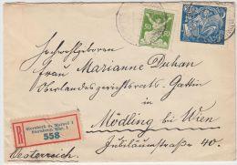 00978 Sternberk Registered Cover To Mödling Austria - Briefe U. Dokumente