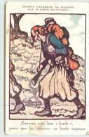 """ZOUAVES  Avec Leur """"Barda"""" (cachet Foyer Du Soldat Nancy). - Uniformes"""