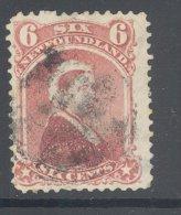 NEWFOUNDLAND, 1868 6c Used, Cat £26 - Newfoundland