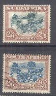 """SOUTH AFRICA, 1930 2s6d With Centre In Green And Blue (""""""""SUIDAFRIKA"""""""") VFU - Afrique Du Sud (...-1961)"""
