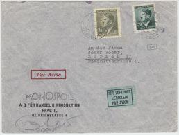 00985 Germany Deutsches Reich Prag 1942 Censored Airmail To Zürich - Bohême & Moravie