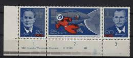 DDR Michel No. 1138 - 1140 ** postfrisch / DV  Druckvermerk / Fingerspuren