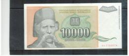 JUGOSLAWIEN , YUGOSLAVIA ,     10000 Dinara    , 1993  ,    Pick #129      , - Yugoslavia