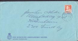 Greenland KGL. GRØNDLANSKE HANDEL, SDR. STRØMFJORD 1969 Cover Brief To Denmark 80 Ø King Frederik IX. Stamp (Cz. Slania) - Grönland